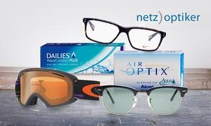 Netzoptiker: Wertgutschein über bis zu 100 € für Brillen, Sonnenbrillen, Skibrillen, Kontaktlinsen und Pflegemittel von netzoptiker