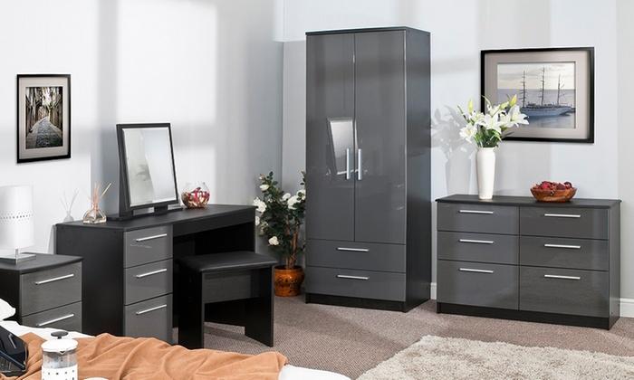 Warwick furniture five colours groupon goods for Bedroom furniture set deals