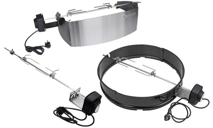 Cook>it Dreh-Spieße für Gas-, Holzkohlegrills und für die Weber Q300/320 - Q3000/Q3200 Serie