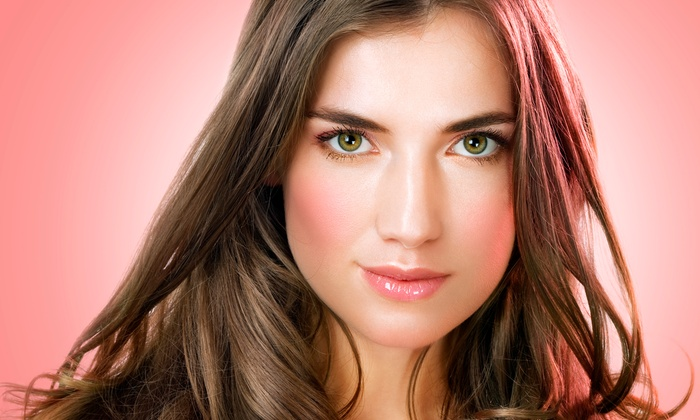 Salon Rouge - Hiram: Haircut with Optional Partial Highlights at Salon Rouge (Up to 50% Off)