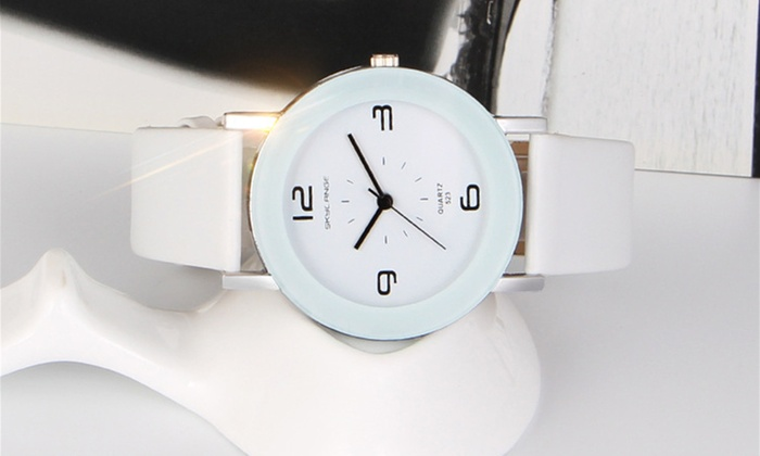 Women's Watch with Leather Strap