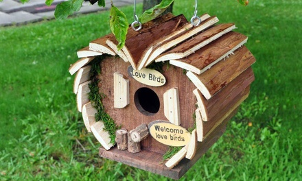 One or Two Wooden Bird Hotels