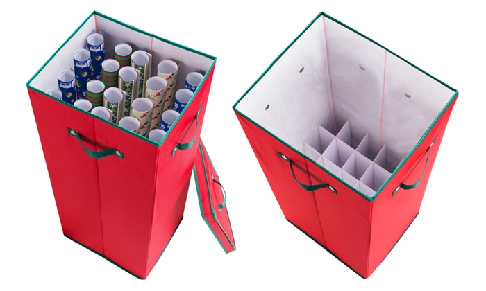 Christmas Tree Wreath and Wrapping Paper Storage Containers Groupon