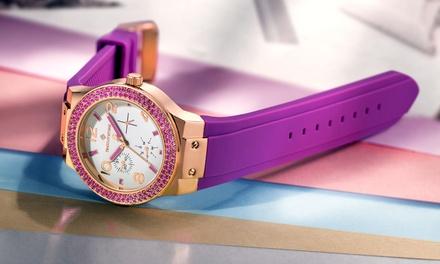 Timothy StoneFacon Damen-Armbanduhr mit Swarovski® Kristallen verziert in den Farben nach Wahl (77% sparen)