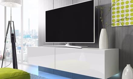 meuble tv lana led groupon shopping. Black Bedroom Furniture Sets. Home Design Ideas