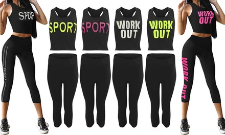 Work Out Top and Leggings Set