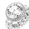 Cubic Zirconia Engagement Ring in 18K White Gold Plating