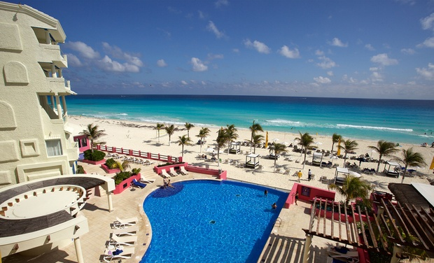 TripAlertz wants you to check out ✈ 3- or 5-Night All-Inclusive Hotel NYX Cancún Stay with Airfare. Price/Person Based on Double Occupancy. ✈ All-Inclusive Hotel NYX Cancún Stay with Air from Travel by Jen  - All-Inclusive Cancún Stay w/ Air