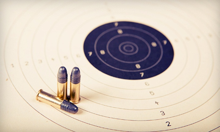 Aim Center Mass - Multiple Locations: Shooting-Range Package for Two or Four with Firearm Rental, Ammo, and Targets at Aim Center Mass (Up to 55% Off)