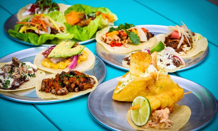 Gio Taco - Downtown Tucson: Tacos, Latin-Inspired Bar Food, Beer, and Mixed Drinks at Gio Taco (Up to 45% Off). Two Options Available.