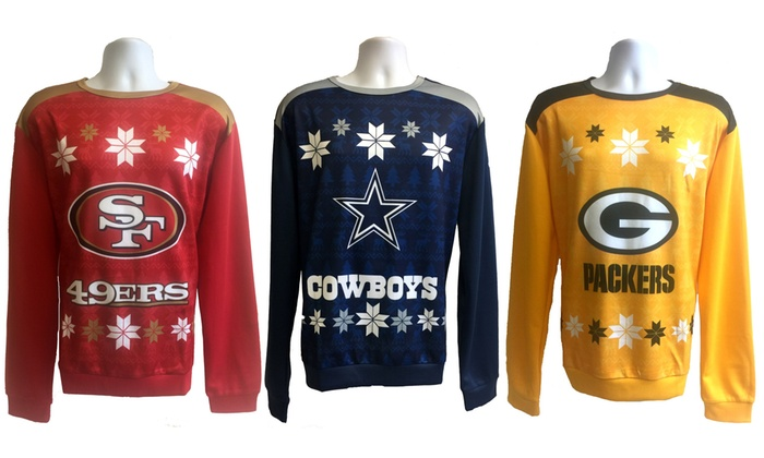 nfl polyester ugly christmas sweater