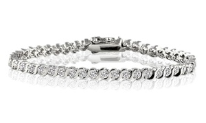 1/4 CTTW Diamond Tennis Bracelet in 18K White Gold Plating at 1/4 CTTW Diamond Tennis Bracelet in 18K White Gold Plating, plus 9.0% Cash Back from Ebates.