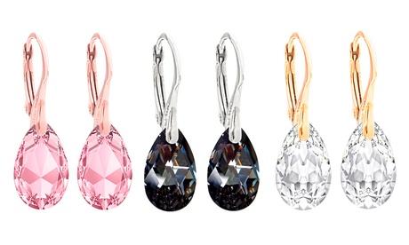 1, 2 o 3 pares de pendientes de plata de ley Ah! Jewellery con cristales de Swarovski®