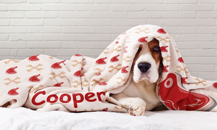 Up to Two Personalised Dog Photo Blankets in Choice of Sizes (Up to 83% Off)