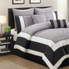 Spain Quilted Color-Block Comforter Set (8-Piece)
