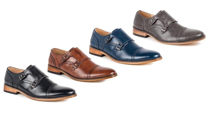 5eae98bd0e5e Signature Men s Double Monk Strap Capital Dress Shoes