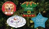Personalized Planet: Personalized Circle or Oval Ceramic Ornaments from Personalized Planet (Up to 45% Off)