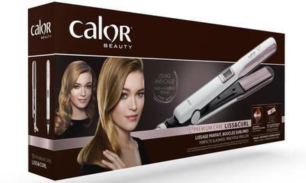 Calor Premium Care Liss & Curl : appareil 2en1 lisseur et boucleur