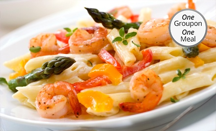 Italian Dinner for Two or Four with Appetizer, Entrees, and Drinks at Tramonto on the Bay (Up to 55% Off)