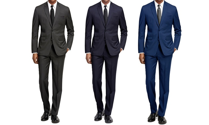 Up To 84% Off on Men s Slim-Fit Suits (2-Pack)  03035ef43acf