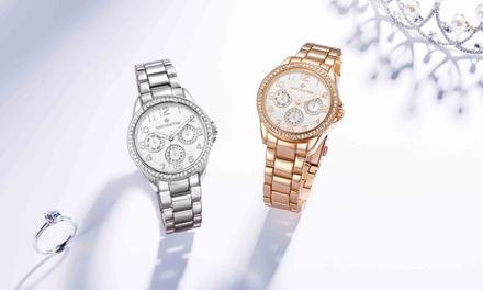 Timothy Stone Armbanduhr Katy verziert mit 64 Kristallen von Swarovski® in der Farbe nach Wahl