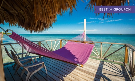 3- or 5-Night Stay for Two with Optional Boat Transfer and Activities at Thatch Caye Resort in Belize.