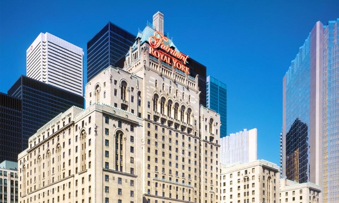 The Fairmont Royal York - Toronto, ON: 1-Night Stay for Two with Valet Parking, Internet, and Breakfast for Two at The Fairmont Royal York in Downtown Toronto
