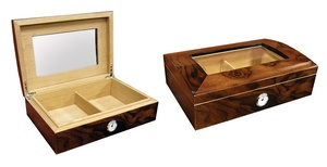 Addison Glass-Top Walnut Humidor