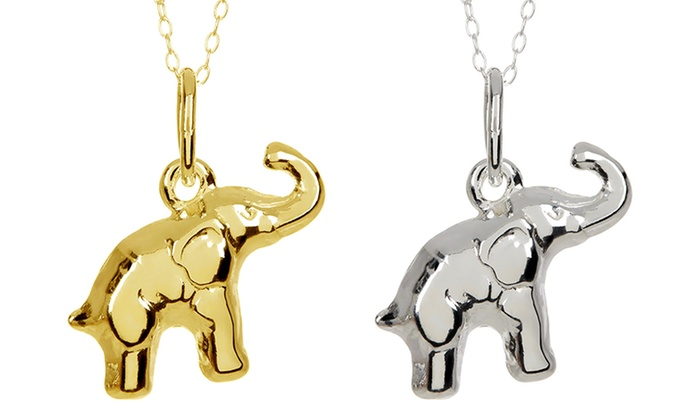 Clearance: Elephant Charm in Italian Sterling Silver: Clearance: Elephant Charm in Solid Italian Sterling Silver