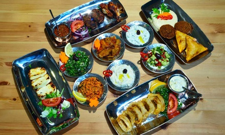 Hot and Cold Meze with Glass of Wine for Two, Four or Six at Gem Restaurant