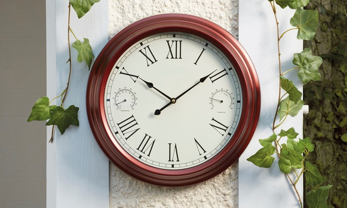 Garden Wall Clocks 4 Styles Groupon Goods