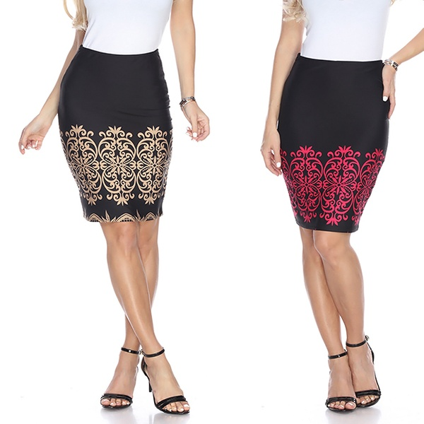 4948b01294 Up To 56% Off on Women's Stretchy Pencil Skirt | Groupon Goods