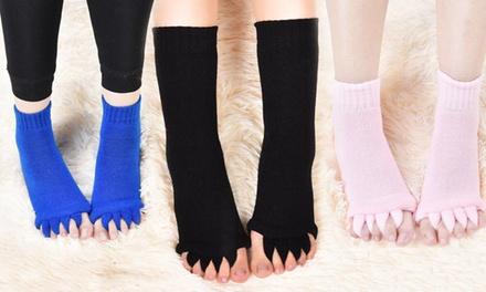 1, 2 of 3 paar dames sokken met aparte tenen, in kleur naar keuze