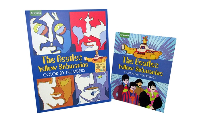 Crayola The Beatles Yellow Submarine Adult Coloring Book Set 2 Piece