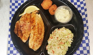 Off The Hook Fish And Shrimp: Seafood Meal for Two or Four at Off The Hook Fish And Shrimp (Up to 44% Off)