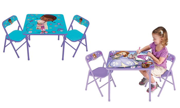 Disney Activity Table and Chair Sets (3-Piece) | Groupon
