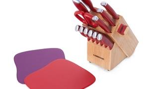 Farberware Edgekeeper Delrin Knife Block Set (15-Piece)