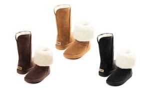 Boots Fourrées cuir suédé Femme