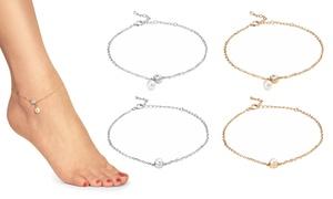 Bracelet cheville cristaux Swarovski