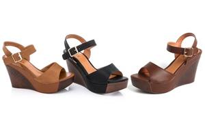Lady Godiva Women's Platform Wedge Sandals