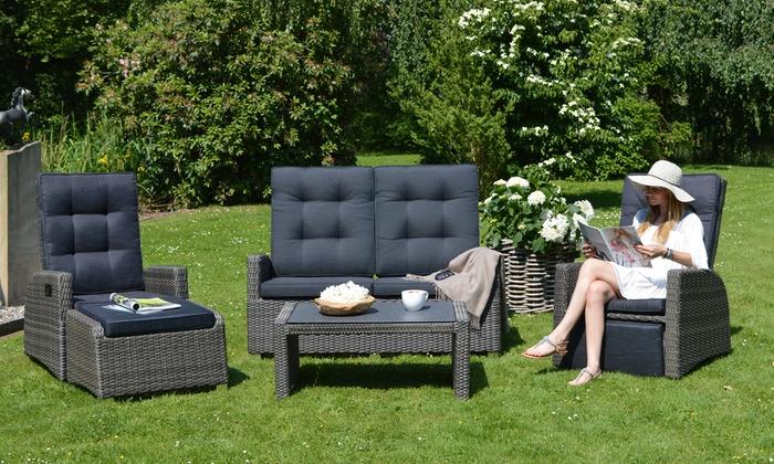 Ploß Polyrattan-Lounge-Sofa | Groupon Goods