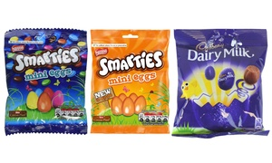 Œufs Pâques Cadbury/Smarties/M&M's