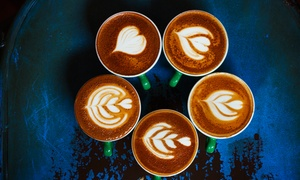 The Coffee Gang: Five Small ($4.50), Medium ($5) or Large ($6.50) Coffees at The Coffee Gang (Up to $20 Value)