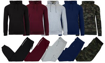 Men's Fleece Hoodie & Sweatpants Set (2-Piece; S–2XL)