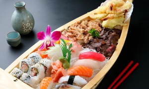 Xiao: Menu sushi in formula All You Can Eat con calice di vino per 2 o 4 persone al ristorante Xiao