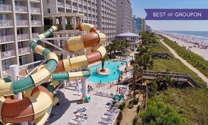 Oceanfront Myrtle Beach Hotel with Water Park  at Crown Reef Resort, plus 9.0% Cash Back from Ebates.