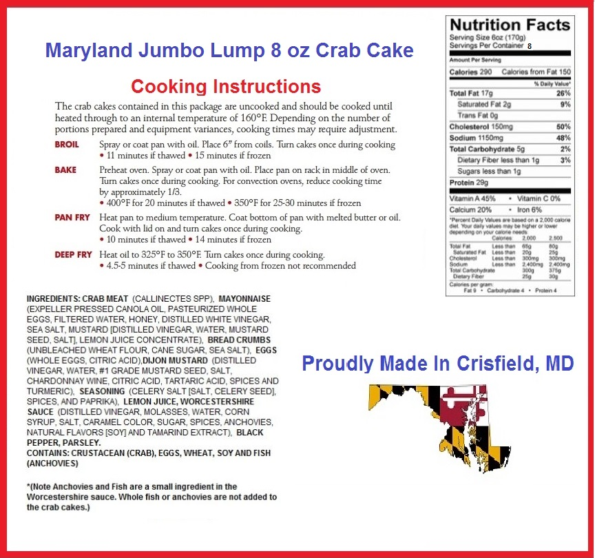 Up To 38 Off On Maryland Crab Cakes 6 Pack Groupon Goods