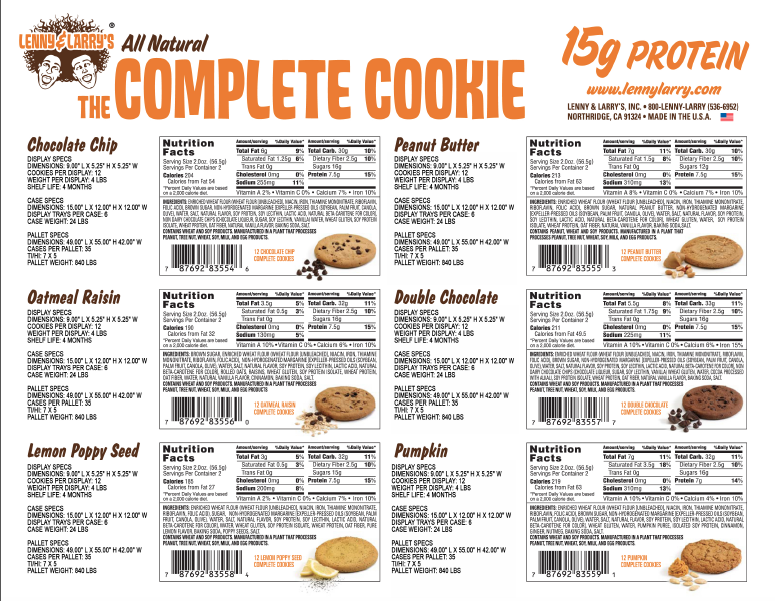 Birthday Cake Complete Cookie Nutritional Information And Ingredients