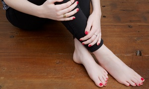 Rios Beauty Forum: Shellac Manicure with Optional Pedicure at Rios Beauty Forum (Up to 60% Off)