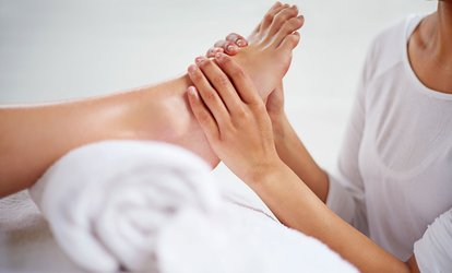 image for 60-Minute Foot <strong>Reflexology</strong>, or 75- or 90-Minute Foot & Body Massage Combo at Blue Sea Wellness (Up to 45% Off)